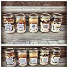 5 verschiedene Cookies im Glas - Mit Rezept und Etikett zum ausdrucken