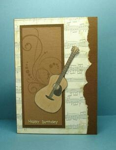Musical Birthday by Cindy H. - Cards and Paper Crafts at Musical Birthday by Cindy H. - Cards and Paper Crafts at Splitcoaststampers Tarjetas Stampin Up, Stampin Up Cards, Bday Cards, Birthday Cards For Men, Male Birthday, Birthday Ideas, Masculine Birthday Cards, Masculine Cards, Making Greeting Cards
