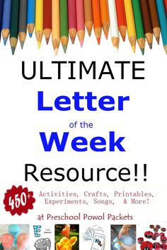 Amazing resource!!  The last stop you will need to make for gathering Letter of the Week ideas!!  Perfect for preschool and kindergarten!!  Includes science, math, reading, free printables, language, and so much more!