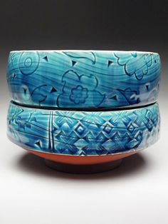 Paul Linhares Set of Two Stacking Bowls at MudFire Gallery