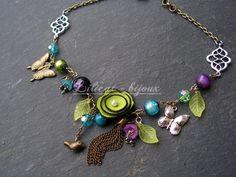 558 meilleures images du tableau fleurs cuir   Beaded Jewelry ... 1cec5d1d17b