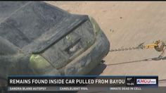 Remains found inside car pulled from Sims Bayou