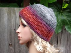 MULTICOLORED HAT Crochet Hand Knitted Ladies Beanie Hat Women  Slouchy Beanie Slouch Hats Oversized Baggy cabled hat Women Accessory MOHAIR