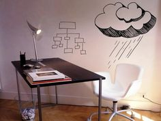 Turn any wall into a dry-erase whiteboard with a coat of CRE-8 water-borne paint.