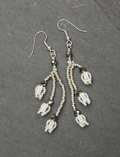 Bluebell Earrings white