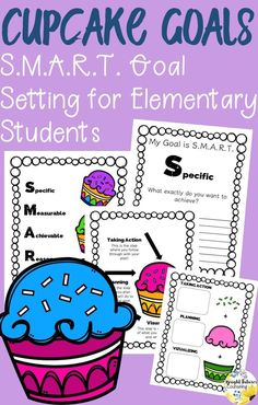 Teach your students SMART goal setting with these fun cupcakes! Cupcake Goals is a fun, simple way to introduce elementary students to SMART goal setting. Includes interactive worksheets, SMART goals poster, and examples of goal setting. Elementary School Counselor, School Counseling, Elementary Schools, Group Counseling, Smart Goal Setting, Setting Goals, Guidance Lessons, Social Emotional Learning, Study Skills