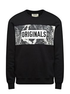 SWEAT CREW NECK SWEATSHIRT - Jack & Jones Blue Peter, Casual Wear For Men, Black And White Prints, Cut Shirts, Jack Jones, Hoody, Matching Outfits, Clothing Company, Swagg