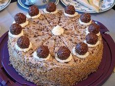 Ferrero - Rocher - Torte, ein gutes Rezept aus der Kategorie Torten. Bewertungen: 78. Durchschnitt: Ø 4,5.