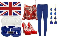"""""""London Flag Outfit"""" by fashionpassion22 ❤ liked on Polyvore"""