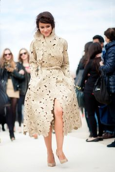 miroslava duma, pfw...photo © wayne tippetts - second wedding dress