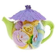 You know how before you have kids, you swear you'll never buy them plastic tat… Tea Pot Set, Pot Sets, Disney Fairies, Tinkerbell, Teapots And Cups, Teacups, Cute Teapot, Teapots Unique, My Cup Of Tea