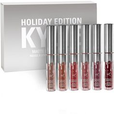 Kylie Cosmetics Holiday Mini Kit Matte Liquid Lipsticks ($15) ❤ liked on Polyvore featuring beauty products, makeup, lip makeup and lipstick