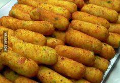 """Potato Croquettes (""""Crocché"""") with mozzarella and prosciutto, from Sorrento - Napoli,Italy"""
