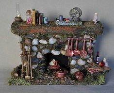 Fairy miniatures: fireplace