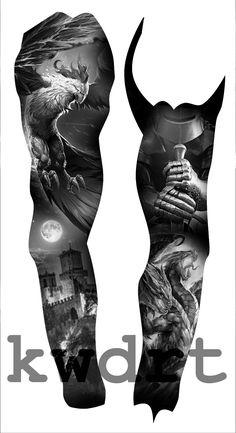 New tattoo ideas hombre tatuajes design for men Ideas Best Sleeve Tattoos, Leg Tattoos, Body Art Tattoos, Tattoos For Guys, Osiris Tattoo, Medieval Tattoo, Mangas Tattoo, Mujeres Tattoo, Blackout Tattoo