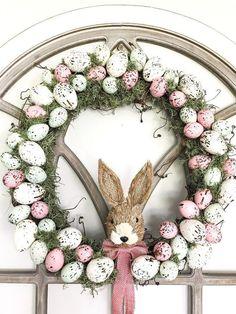 Diy Spring Wreath, Diy Wreath, Wreath Ideas, Garland Ideas, Grapevine Wreath, Diy Ostern, Diy Easter Decorations, Dollar Tree Crafts, Easter Wreaths