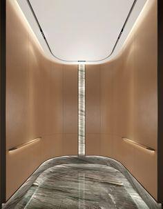 Lobby Interior, Luxury Interior, Interior Architecture, Patio Door Blinds, Patio Doors, Lift Design, Cabin Design, Shopping Mall Interior, Elevator Design