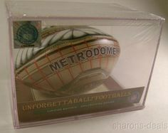 NFL Metrodome Stadium Minnesota Viking Unforgettaball Football Case McArthur LTD - FUNsational Finds - 1