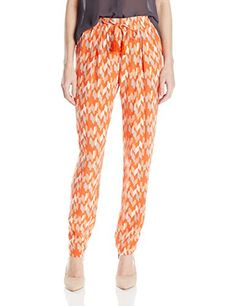 Lucky Brand Womens Soft Pant OrangeMulti Small *** Learn more by visiting the image link.
