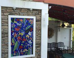 GRANDE 5 pies arte de pared de jardín mosaico por ParadiseMosaics