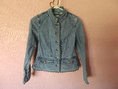 "Limited Too Girls Denim Jacket Size 28"" Bust Lace Dressy Blue Jean Jacket No Tag #LimitedToo #JeanJacket #DressyEveryday"