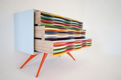 contemporary version of french drawers made out of sliced timber - Google Search