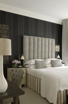 Master Bedroom...A gorgeous mix of colors and patterns