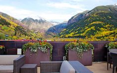 Telluride is fabulous during the color change.  This photo taken from Heart of Telluride deck in downtown Telluride, CO.
