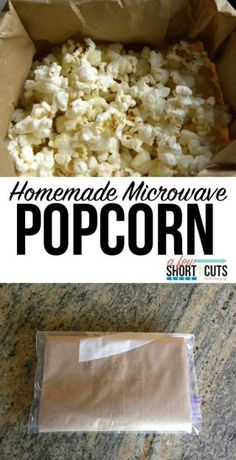 Kids snacks are an important part of everyday! Check out this healthy, Homemade Microwave Popcorn recipe! You will be shocked just how simple it is to make! So easy, the kids can do it themselves. And it costs pennies compared to that other stuff.