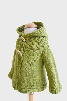Top-down Baby and Children Cable Yoke Jacket Knitting pattern by Kyoko Nakayoshi | Knitting Patterns | LoveKnitting