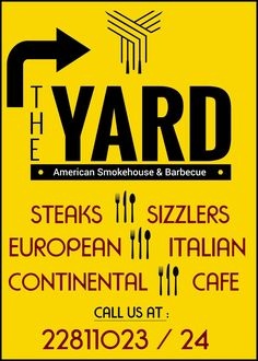 American smokehouse and bar be que    pizzas burgers brisket sandwiches risotto steaks sizzlers     Kala ghoda Fort Mumbai