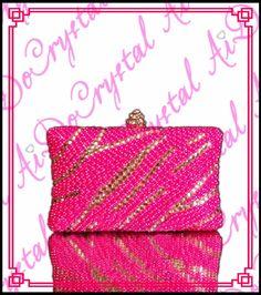 158.00$  Buy now - http://alighu.worldwells.pw/go.php?t=32682850472 - Aidocrystal Euro trendy beautiful fuchsia pearl evening bag fashion handmade clutch purse lady diamond handbag 158.00$