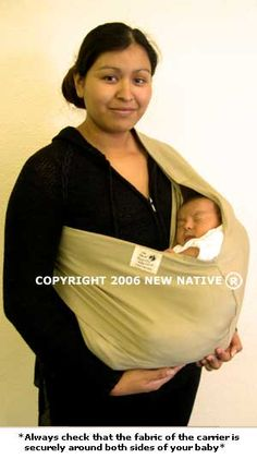 0efaded4695 New Native IncThe original New Native Baby Carrier ·  Always check that the  fabric of the carrier is securely around both sides of your