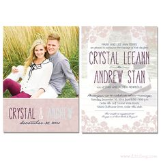 dittobug wedding invitations two sided photo wedding invitation