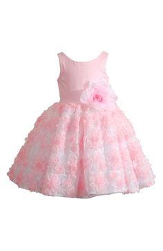 Toddler Girl's Kleinfeld Pink 'Brooke' Sleeveless Soutache Dress