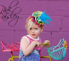 SWEETER than a CUPCAKE 2 hat on a headband or hairpeice for special occasions, photo shoots, circus, pageants, and babies