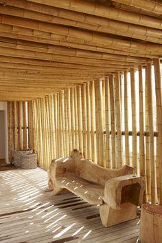 Bamboo spa reception @ Babylonstoren