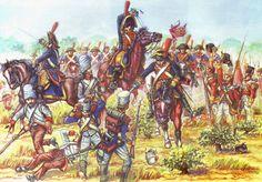 Regimiento de Caballería de Línea Rey 1809 Carga en la batalla de Talavera