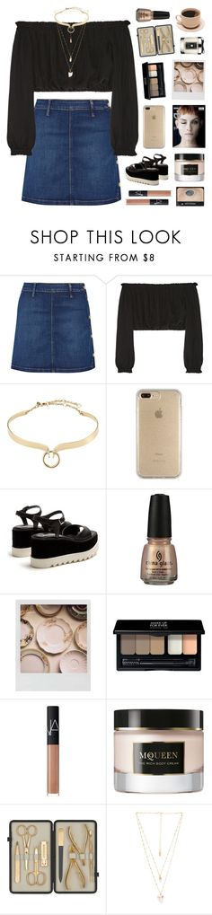 """""""aleeza's 2.5k set challenge / day 1"""" by emmas-fashion-diary ❤ liked on Polyvore featuring Frame, Elizabeth and James, Alexis Bittar, Speck, STELLA McCARTNEY, Polaroid, MAKE UP FOR EVER, NARS Cosmetics, Alexander McQueen and Czech & Speake"""