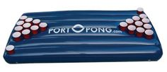 Floating Portable Beer Pong Table Raft | portOpong