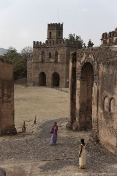 The Fasilides Castle, Gondar, Ethiopia, Africa