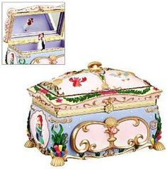 Ariel deluxe musical jewelry box