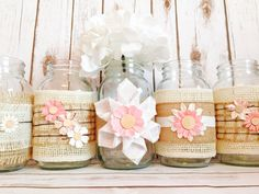 Rustic Wedding Centerpiece Wedding by IzzyAnnCollection on Etsy