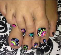 Colorful for nails or toes