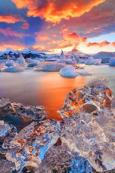 Fire and Ice Sunrise beautiful amazing