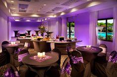 Purple up-lighting to enhance any setting!  #socialeventsradisson   #radissonphxairport