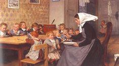 """La Crèche"", 1890. Albert Anker (1831 – 1910). Oil on canvas."