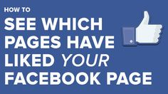 Want to see which pages have liked your Facebook page? Learn how to do this in a piece by @Andrew Mager Macarthy [via @Social Worker Media Today] #socialmedia #marketing