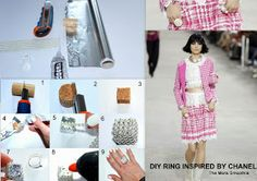 Diy ring inspired by Chanel... very very easy and fashion! Crafts