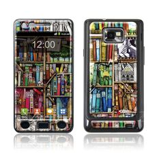 """Bookcase"" Doming SmartphoneCover - Samsung S2 www.cushyskins.com Samsung S2, Bookcase, Smartphone, Wallpaper, Wallpapers, Book Shelves, Bookshelves"